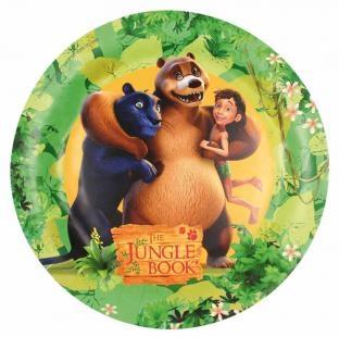 Pappteller The Jungle Book, 23cm, 8er Pack