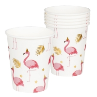 Pappbecher Flamingoparty, 6er Pack