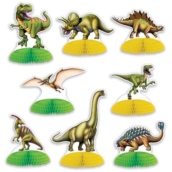 Party-Extra Tischdeko-Set Dinosaurier, 8-teilig