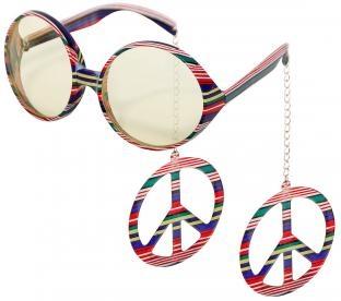 Sonnenbrille Hippie-Peace