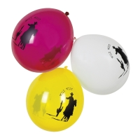 Luftballons Westernparty, 6er Pack