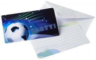 Einladungskarten Fußball - 6er Pack mit Umschlägen