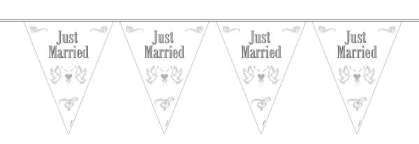 Wimpelkette Just Married - Hochzeitsdeko