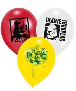 Luftballons Star Wars, 6er Pack