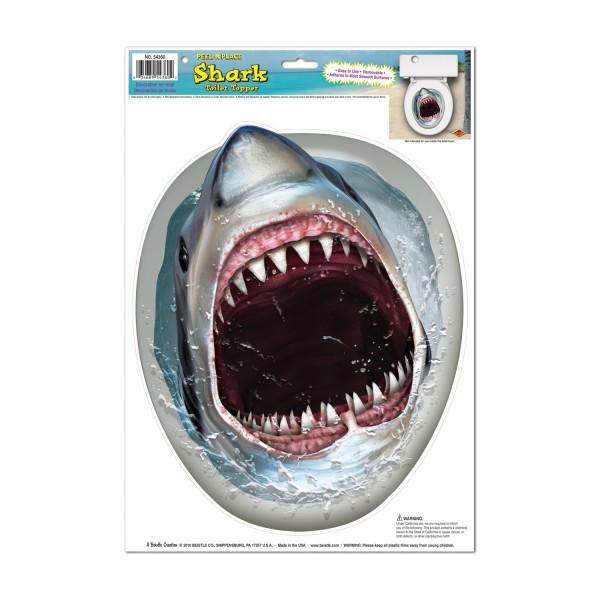 Toilettenaufkleber-Weisser-Hai