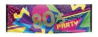 Mega-Partybanner 80er Jahre Party