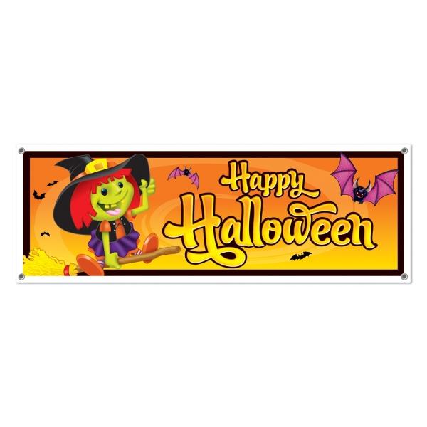 Mega-Partybanner Kleine Halloween Hexe