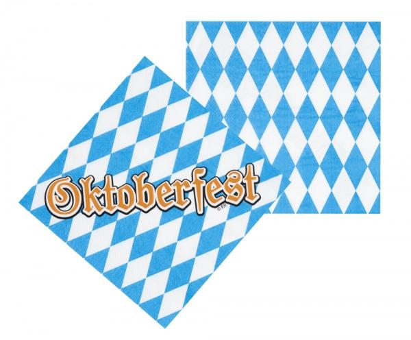 Servietten Oktoberfest - Bayern Tischdeko