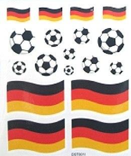 Sticker- und Tattoobogen Set Deutschland