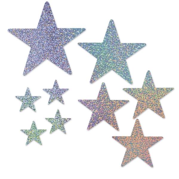 Sterne Cutouts, verschiedene Größen