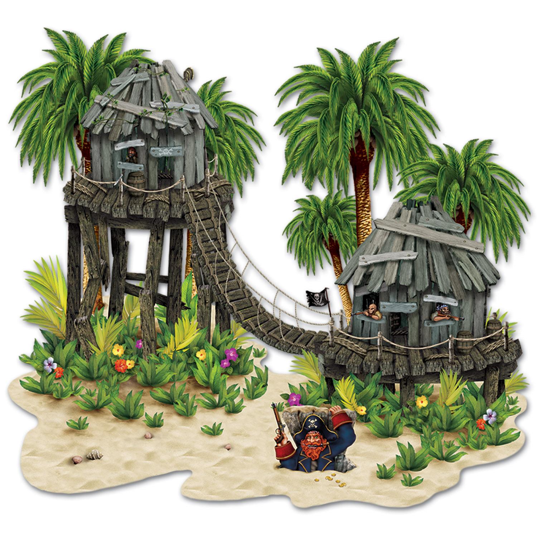 Dekofolie piratenversteck 2er pack zusammen 150x160cm for Mottoparty deko