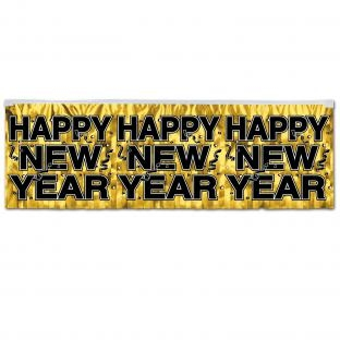 Party-Extra Party Banner Golden Happy New Year