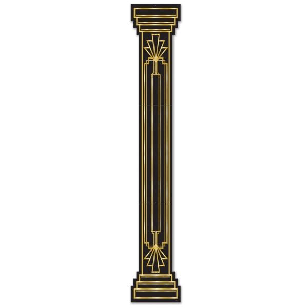 Riesen Cutout-Säule Goldene 20er, 180 cm