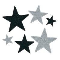 Silver Starlight Folienstern Set, 6-teilig