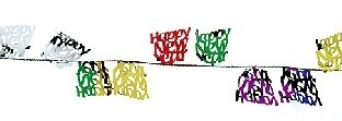 Party-Extra Mini-Drahtgirlande Happy New Year, 2,7 Meter