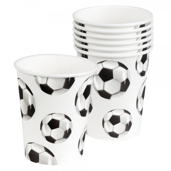 Pappbecher Fußball - Tischdeko Fußballparty