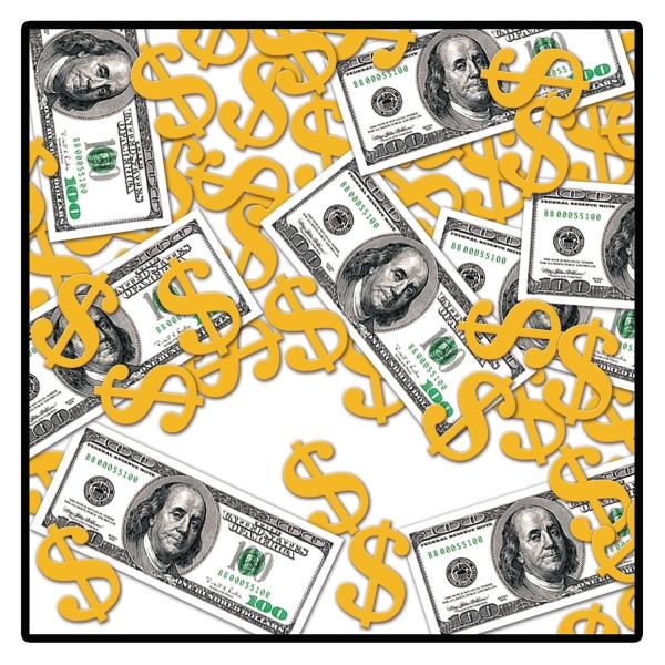 Tischkonfetti US-Dollars - Amerikanische Tischdeko