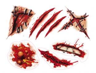 Hautaufkleber Set Halloween - Narben to go