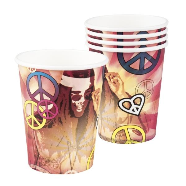 Pappbecher Hippie Revival - 70er Jahre Tischdeko