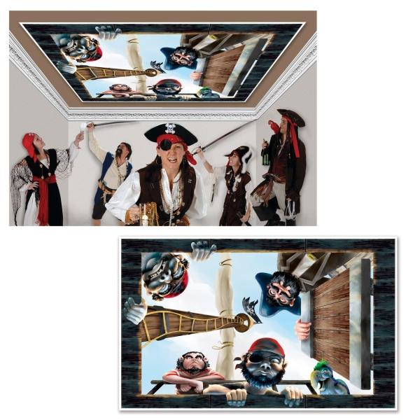 Dekofolie Piratenverließ - Piratenparty Deko