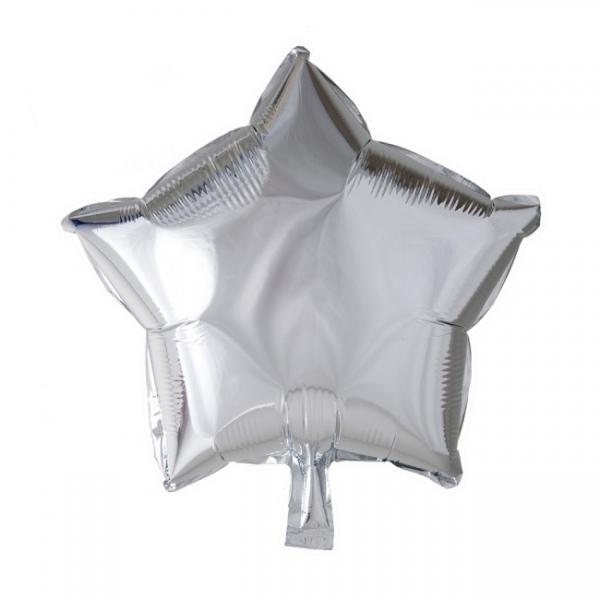 Folienballon Silver Star - Silberne Deko