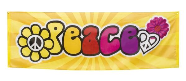 Mega-Partybanner Peace - 70er Jahre Mottoparty Deko