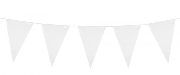 Mini-Wimpelkette Weiss - Party Deko klassisch