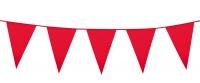 Mini-Wimpelkette Rot, 3 Meter