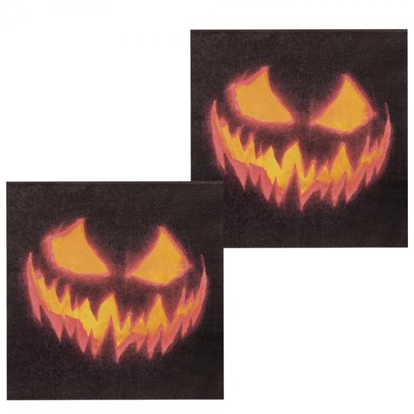 Servietten Spooky Pumpkin - Halloween Gruselparty Tischdeko