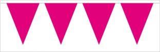 Einfarbige Wimpelkette, pink