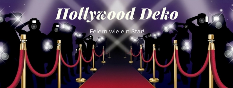 hollywood vip deko feiern wie ein star. Black Bedroom Furniture Sets. Home Design Ideas