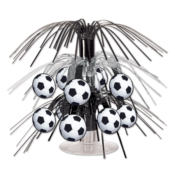 Party-Extra Mini-Tischkaskade Fußball, 19 cm - Fußballparty Deko