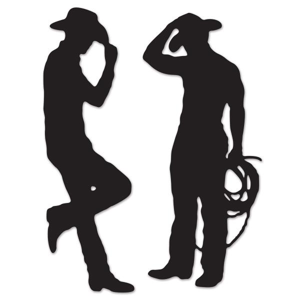 Cowboy-Silhouetten - Westernparty Deko