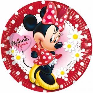 Pappteller Elegante Minnie - Kinderparty Deko