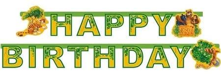 Happy Birthday-Girlande The Jungle Book, 1,80 m lang