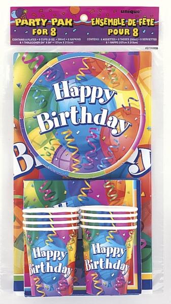 Party-Set Brilliant Birthday, 8 Personen