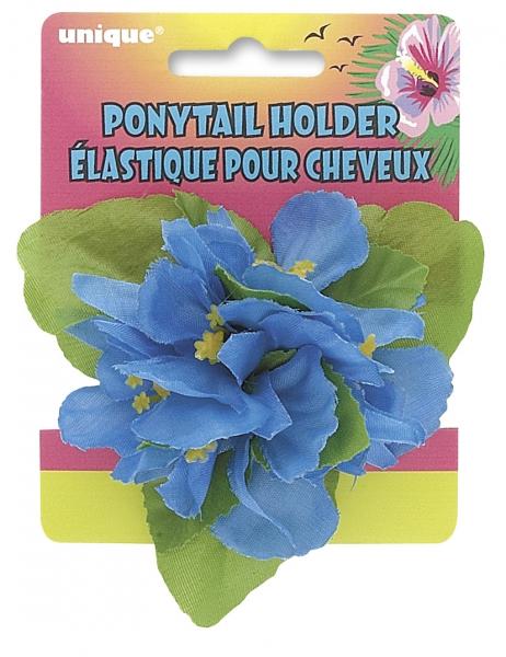 Zopfgummi Blaue Blume - Südsee Style