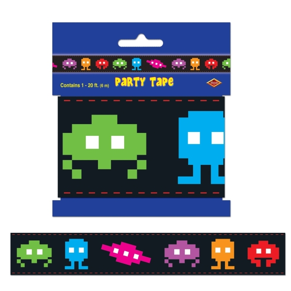 Absperrband 80er Party - mit Verpackung